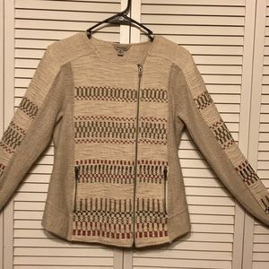 Lucky Brand Textured Jacket Side Zip size M